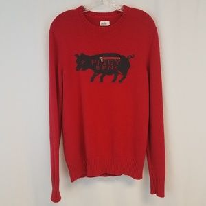 Penny stock red piggy bank sweater